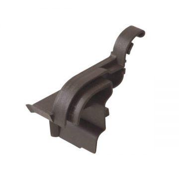 Накладка торцевая АЛЮСТАРТ (D22/20), правая, темная бронза