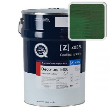 Лак фасадный ZOBEL Deco-tec 5400/5420, Grun 6.32 шелковисто-матовый, 1л