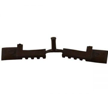 Заглушка концевая DEVENTER на штульповую створку, ширина паза 4-5 мм, ТЭП, темно-коричневый