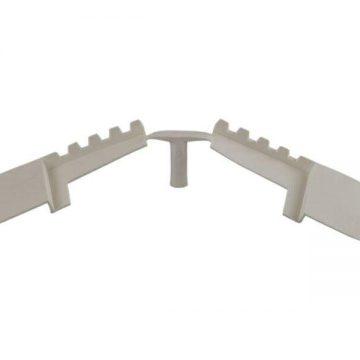 Заглушка концевая DEVENTER на штульповую створку, ширина паза 4-5 мм, ТЭП, белый
