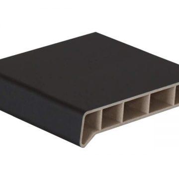 Подоконник пластиковый Moeller 250мм, черный ультраматовый (clean-touch) 5,5м