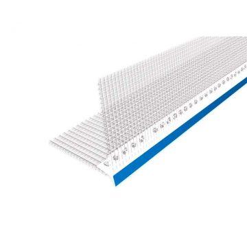 Профиль капельник ПВХ с сеткой 100х100 мм белый 2,5 м