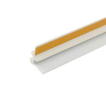 Профиль примыкающий оконный ПВХ 6 мм белый 2,4 м