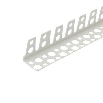 Уголок арочный ПВХ 23х23 мм белый 2,5 м