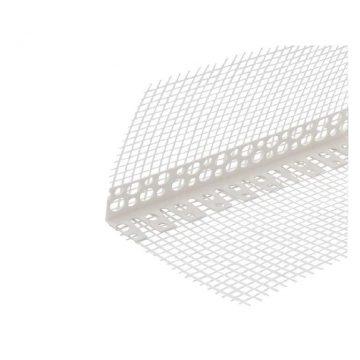 Уголок арочный ПВХ с сеткой 100х100 мм белый 2,5 м