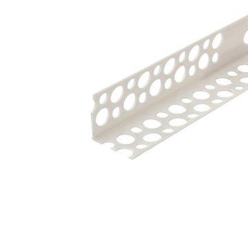 Уголок перфорированный ПВХ 23х23 мм белый 2,5 м