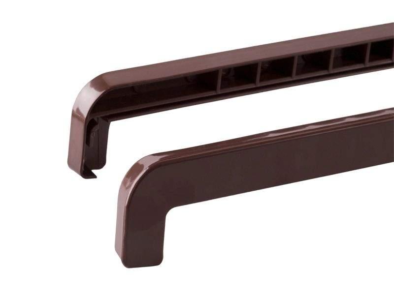 BAUSET Накладка торцевая ABS к наружному сливу 190-360мм левая/правая коричневая