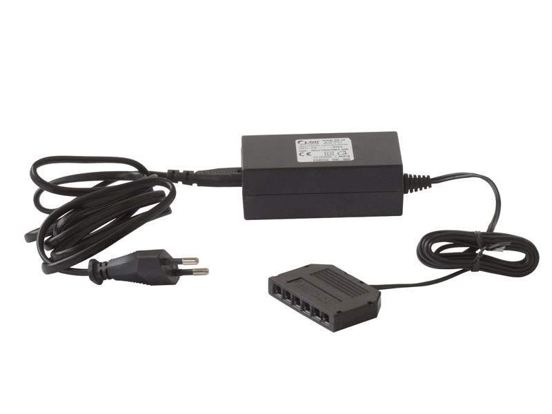 Блок питания c распределителем ZAS-12DC-15W-MINI-03, пластик. LED0402