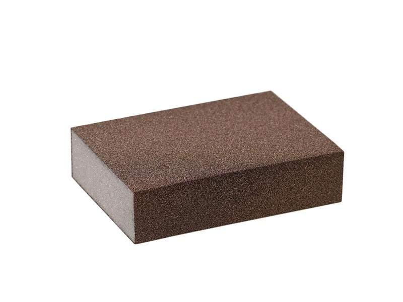 Блок шлифовальный зерно P100 98x69x26мм ZF(мягкий). SLG1130/100