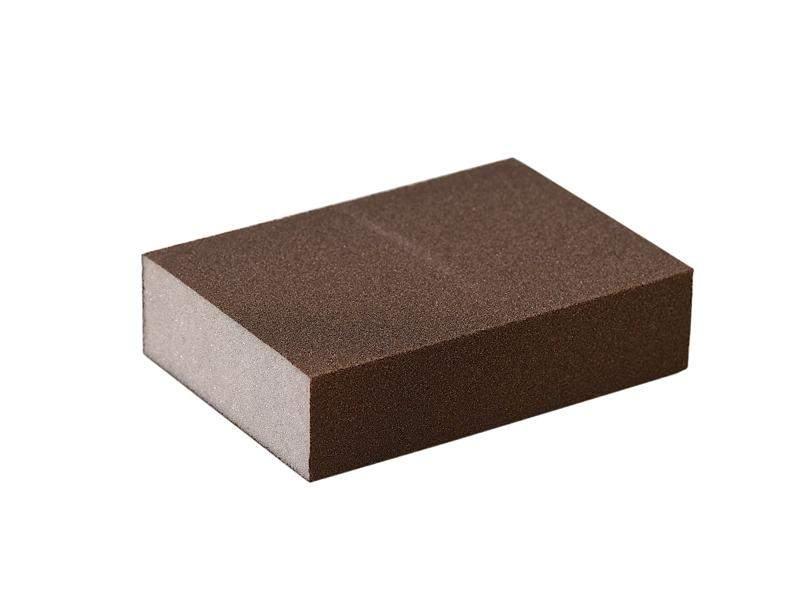 Блок шлифовальный зерно P120 98x69x26мм ZF(мягкий). SLG1130/120
