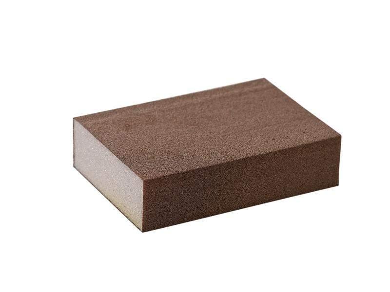 Блок шлифовальный зерно P180 98x69x26мм ZF(мягкий). SLG1130/180