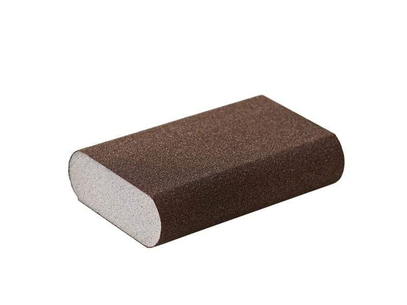 Блок шлифовальный Flexifoam Round Block 98x69x26мм Р100. SLG1136/100
