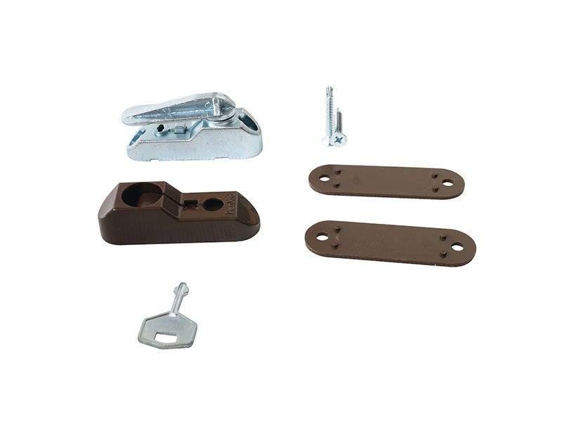 Блокиратор поворота Penkid флажковый с ключом темно коричневый (детский замок). ELE0072.05