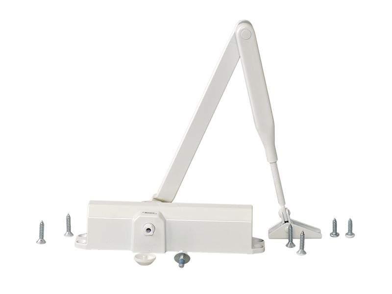 Доводчик MAXBAR 100 Size2/3/4 с тягой, белый. MAX0006.07