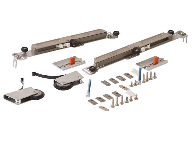 Комлект роликов с доводчиком (на одну дверь, L+R части) FIRMAX. FRM2440
