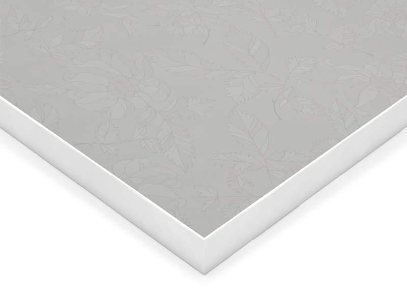 Фасад МДФ глянцевый белые цветы 628 AGT. FAS0400/628