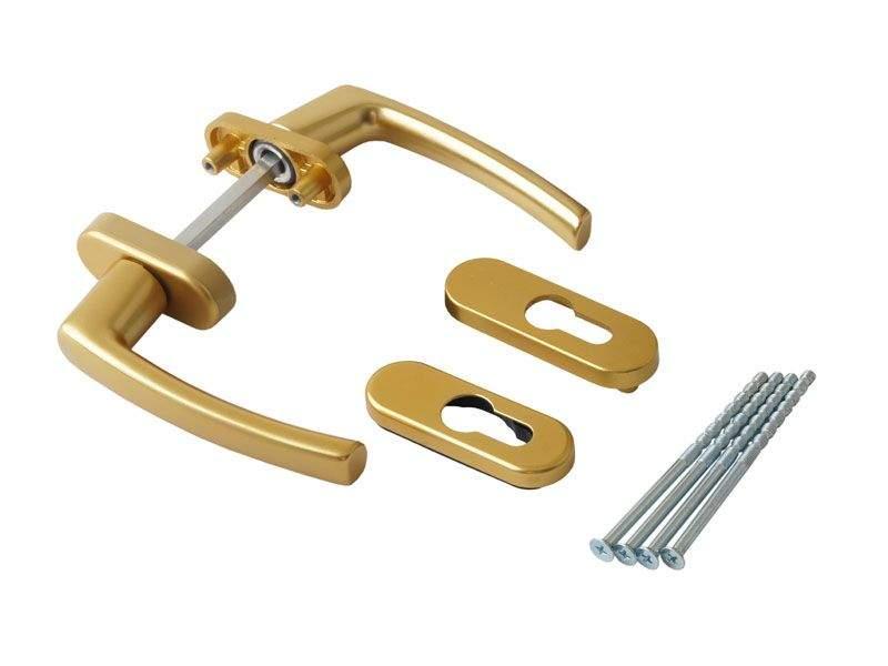 Балконная ручка Rotoline золото матовое