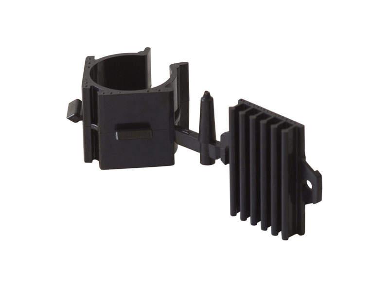Клипса для ножек под цоколь ДСП, пластик, черный. SLM0015