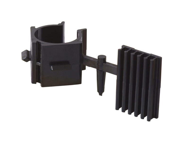 Клипса для ножек под цоколь ПВХ, пластик, черный. SLM0014