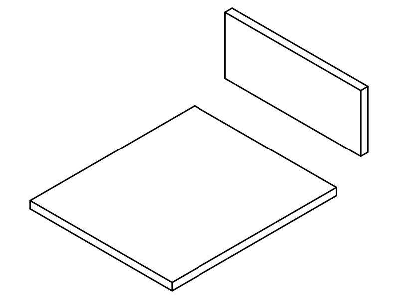 Комплект ЛДСП для ящика FIRMAX NEWLINE, L=500 W=400 H=199. KLGY504019
