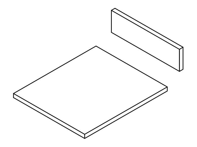 Комплект ЛДСП для ящика FIRMAX NEWLINE, L=500 W=400 H=84. KLGY504084