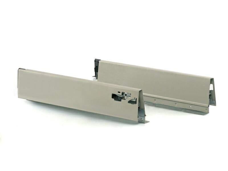 Комплект боковин 400 мм (левая, правая) для ящика Firmax Newline, серый. FRM0940.43