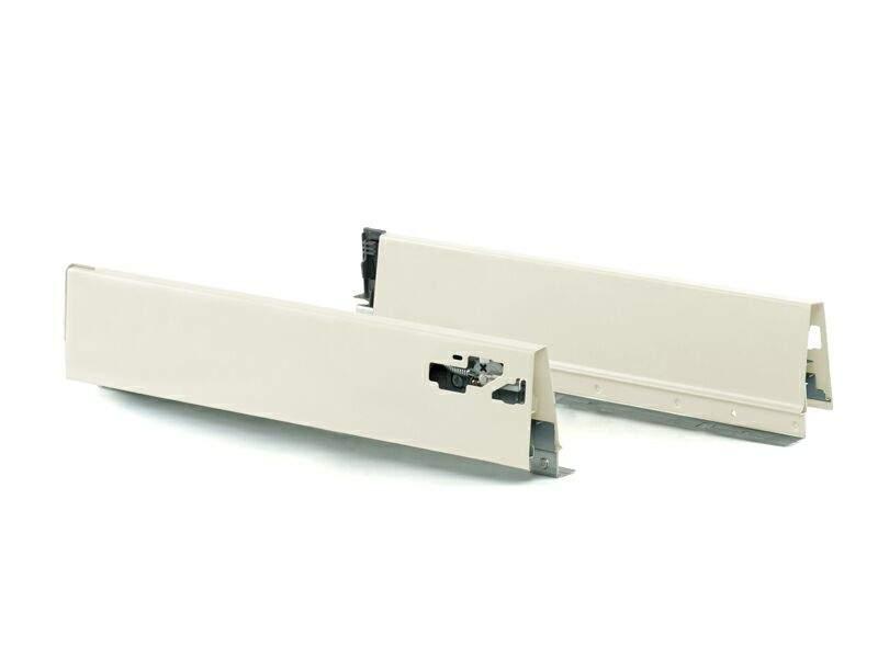 Комплект боковин 270 мм (левая, правая) для ящика Firmax Newline, белый. FRM0925.07