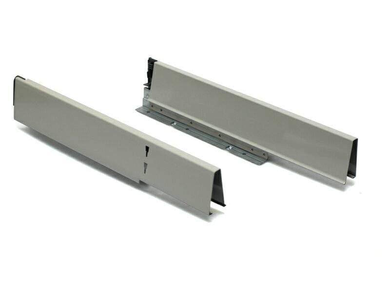 Комплект боковин под мойку 500 мм для ящика под мойку (левая, правая) для ящика Firmax Newline, серый. FRM0950.M43