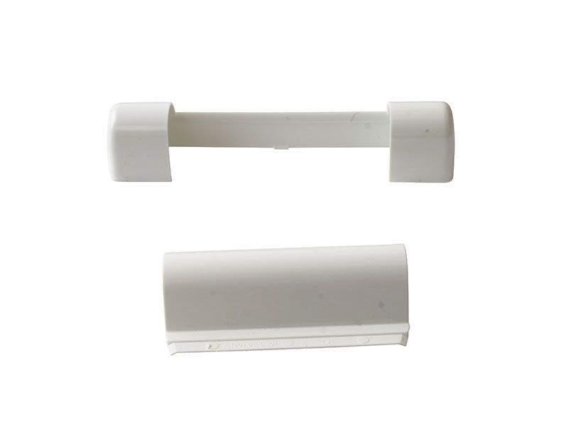 Комплект декоративных накладок средней петли RAL9016 Белый (2 позиции)