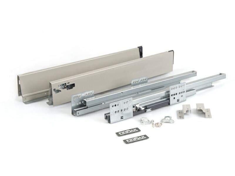 Комплект для ящика 350 мм Firmax Newline, 84мм с доводчиком, серый. FRM0935.043