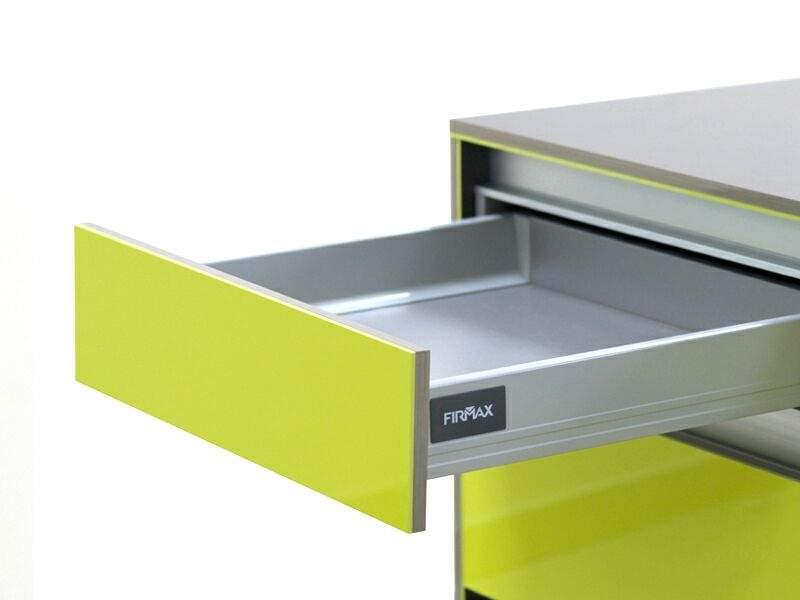 Комплект для ящика Firmax 400 мм, H83мм с доводчиком, серебристый. FRM0452