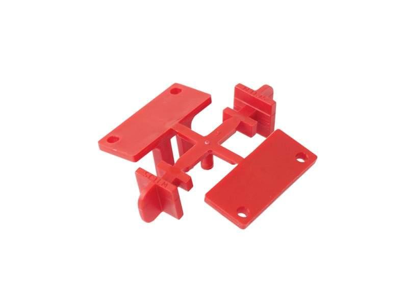 Комплект креплений для горизонтальных профилей GOLA Alphalux (4 части), под саморез, пластик. ALF0411