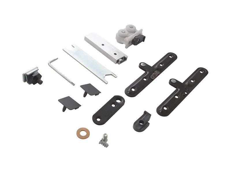 Комплект креплений для складных дверей 40 мм до 60 кг с направляющей. SIS0001.00