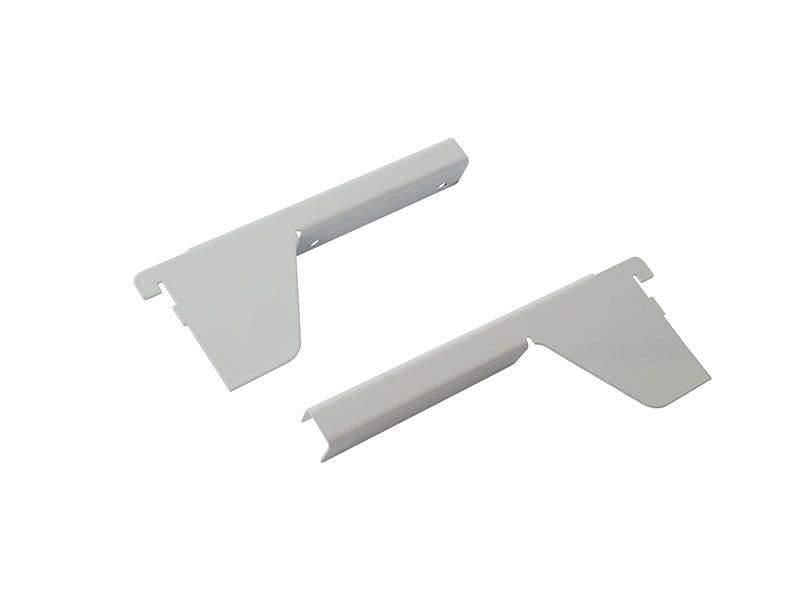 Комплект кронштейнов для полки ЛДСП 18мм FIRMAX (L+R), белый. FRM2535.07