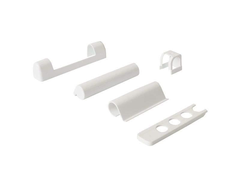 Комплект накладок для дерева левый белый RAL9016 (5 позиций)