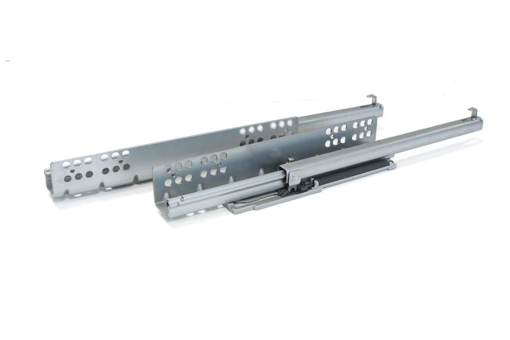 Комплект направляющих скрытого монтажа Firmax Ecomotion L=550мм, частичного выдвижения с доводчиком, для ЛДСП 16мм. FRM0555.S55