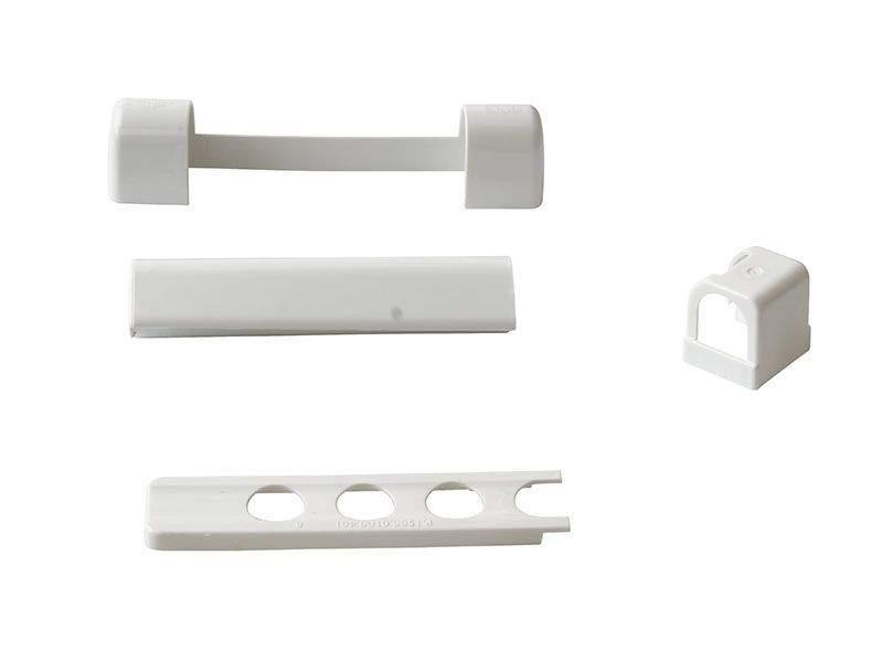 Комплект правый декоративных накладок для дерева Белый RAL9016 (5 позиций)
