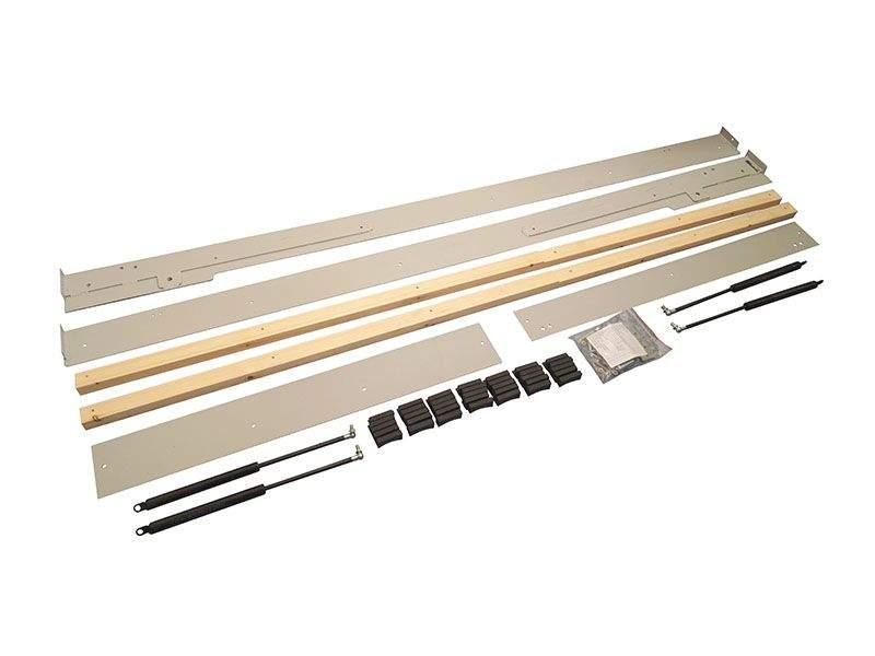 Комплект шкаф-кровати для матраса 2000х900мм. (металлокаркас, оси вращения,оси крепления, мебельные болты и гайки, винты и петли для ножки,4 газ.лифта, ламеледержатели 34 шт, бруски под ламеледержатели). FRM1110.09