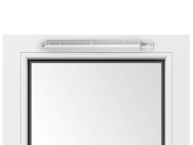 Козырек акустический A-EMM с решеткой от насекомых, белый RAL9003, AEA833