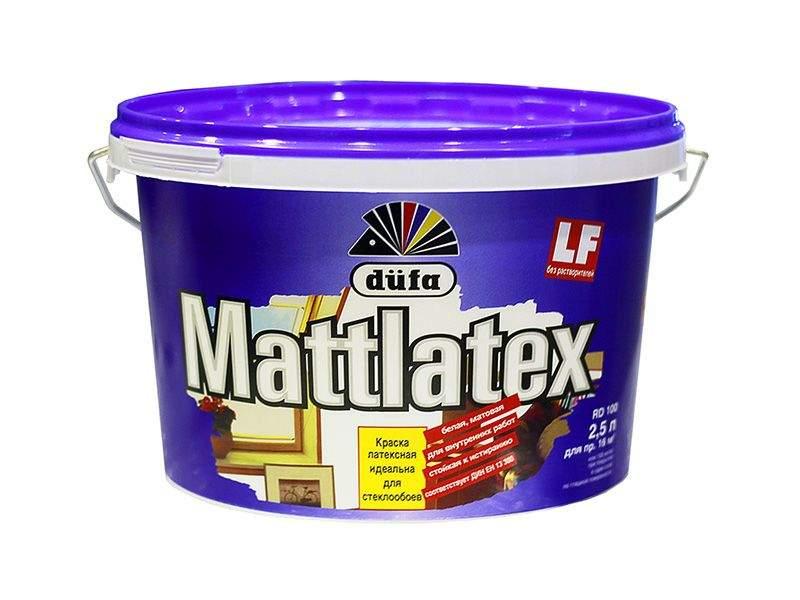 Краска водно-дисперсионная Dufa MATTLATEX RD100 (база 1) 2.5л. DFA001670