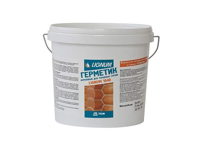 Герметик для торцов древесины LIGNUM 1040 прозрачный, 5л. LIN0003/5