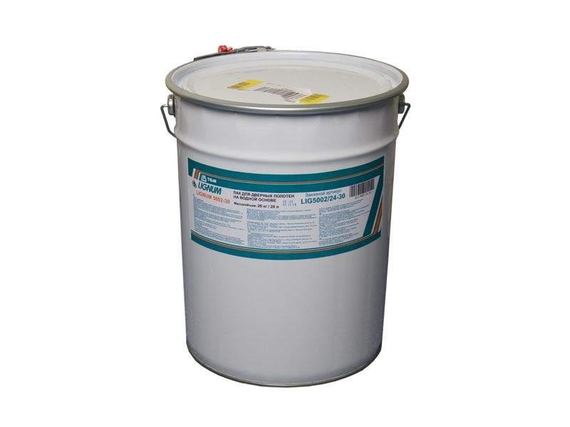 Лак для дверных полотен на водной основе, LIGNUM 5002-30 шелковисто-матовый 20 кг. LIG5002/24-30