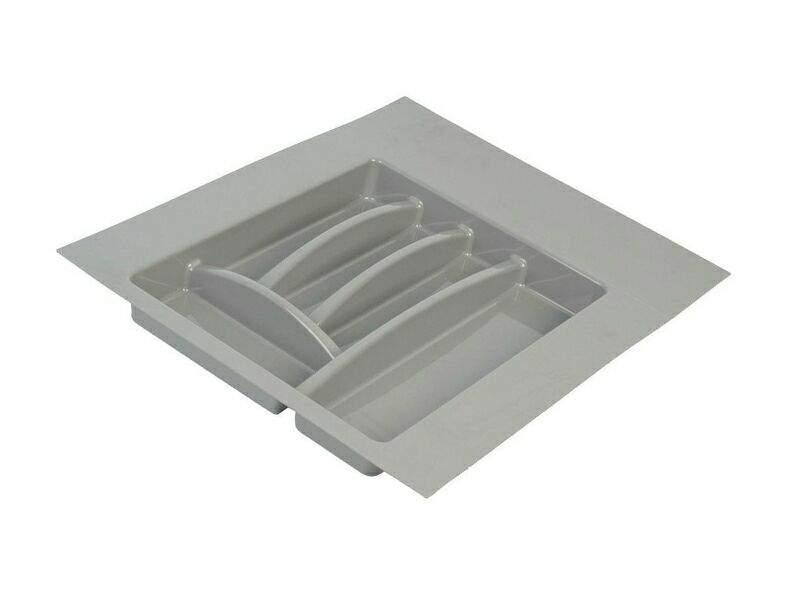 Лоток для столовых приборов Firmax Alpha, база 400-450мм, серый. FRM0492