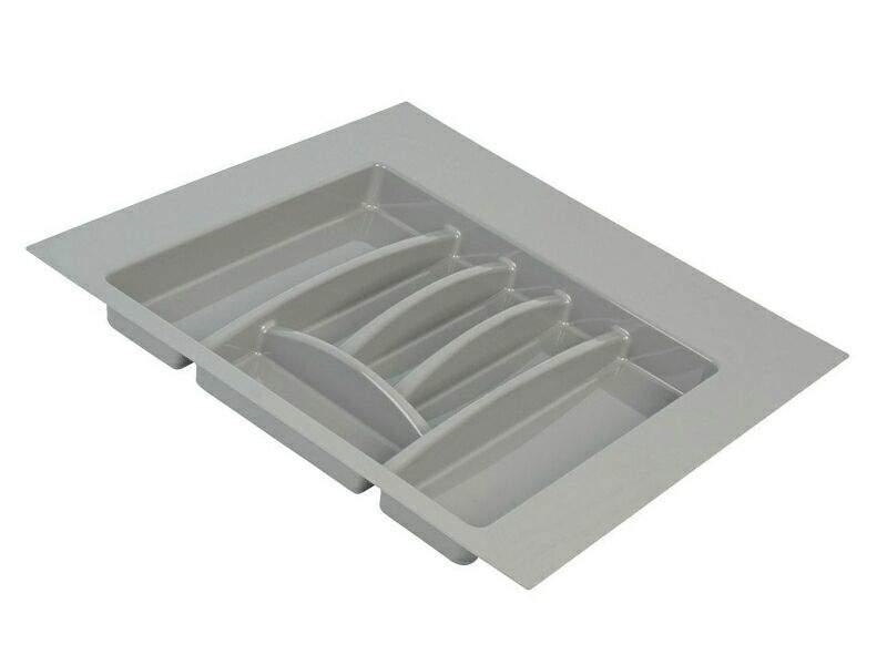Лоток для столовых приборов Firmax Alpha, база 500-550мм, серый. FRM0493