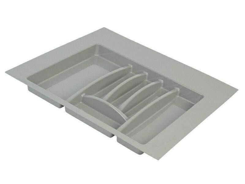 Лоток для столовых приборов Firmax Alpha, база 600мм, серый. FRM0494