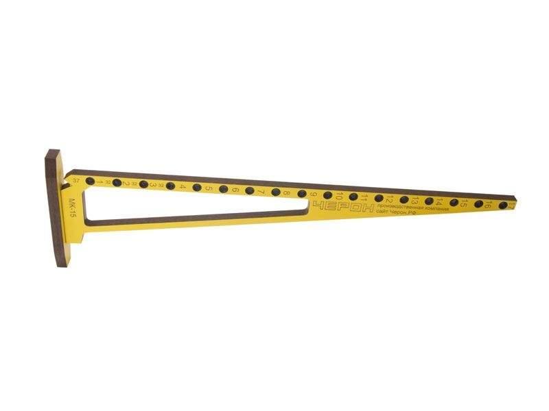 Мебельный кондуктор угольник система 32 диаметр втулки 7 мм, МК-15. MSH0015