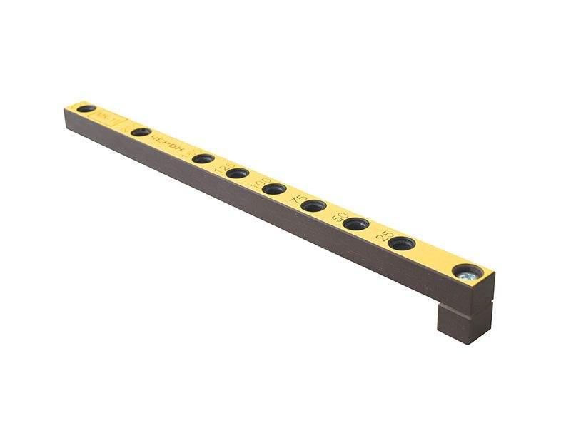 Мебельный кондуктор укороченный шаг 25/50 диаметр втулки 7 мм, МК-11. MSH0011