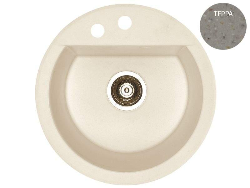 Мойка Alveus Cubo 10 algranit, терра, диаметр 468мм(+сифон). KVL0321.22
