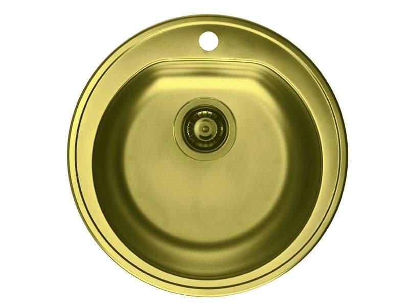 Мойка Alveus Form 30 бронза, диаметр 510мм, глубина 185мм(+сифон). KVL0352.08