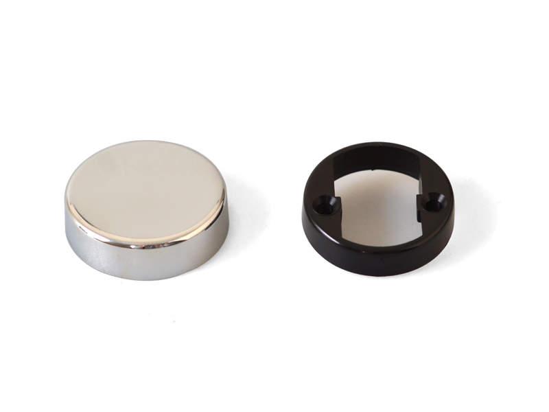 Накладка декоративная для петли QS для стеклянной двери, круглая, хром. FGV0058